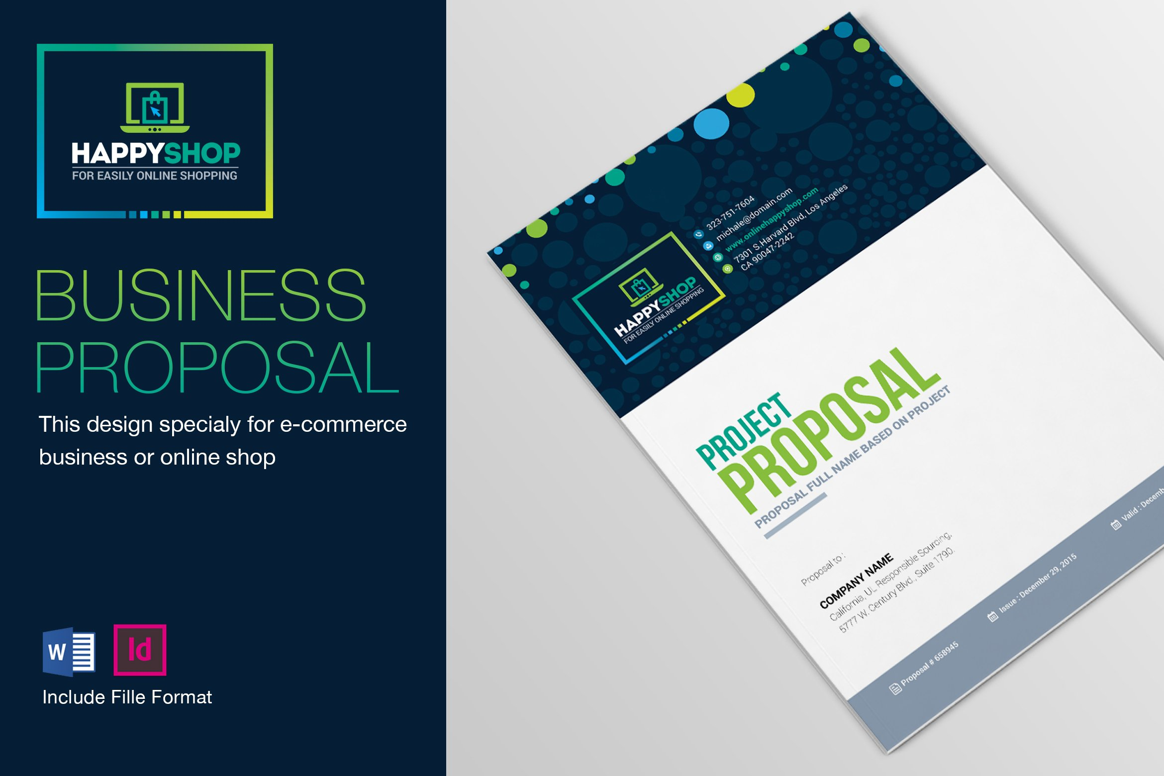 Proposal brochure templates creative market e commerce business project proposal wajeb Gallery