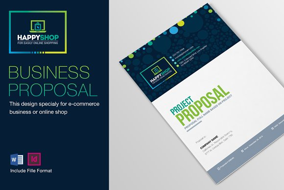 e commerce business project proposal brochure templates creative