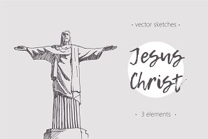 Set of sketches of The Jesus, Brazil