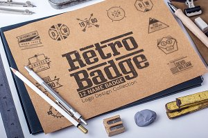 Retro Badge Logo Collection Bundle