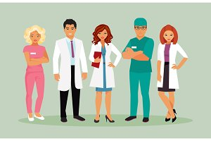 Medical staff vector