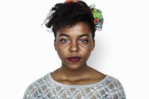 Portrait of an African woman(PSD)