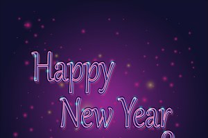 Happy New Year neon sign 2018