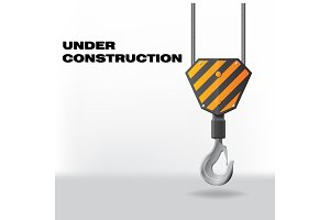 Under Construction with hook