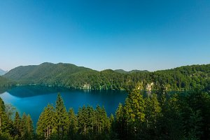 Landscape of Alpsee, view from Marienbruckem Germany