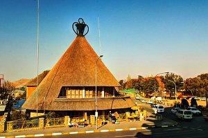 Souvenir shop in the form os traditional Basotho hat