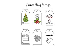 New year  printable gift tags