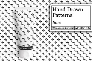 Hand drawn patterns. Lines