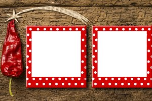 Christmas two frames greeting card