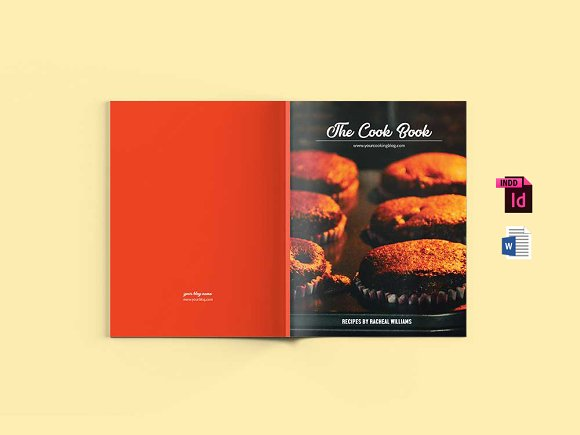 mini cookbook template ms word brochure templates creative market
