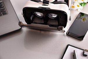 Virtual glasses office desk detail