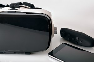 Virtual glasses with phone front
