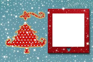 Christmas photo frame card.