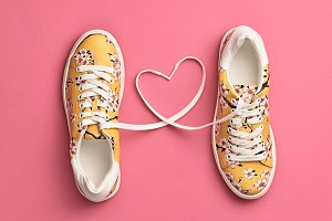 Fashion Trendy Trainers with Heart.