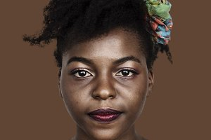 African woman portrait (PSD)