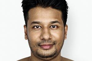 Portrait of an Asian man (PSD)