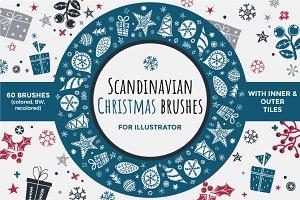 Scandinavian Christmas brushes