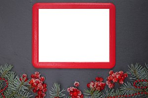 empty red frame
