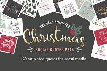Animated Christmas Social Quotes