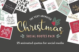 Animated Christmas Social Quotes