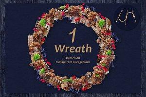❄ vector Christmas Wreath