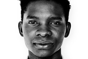 Ugandan man portrait (PSD)