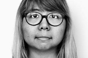 Asian woman portrait (PSD)
