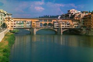 Old Bridge Ponte Vecchio, Florence, Italy