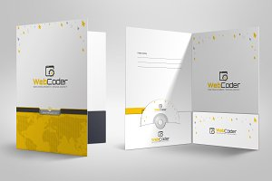 Presentation Folder Design Template