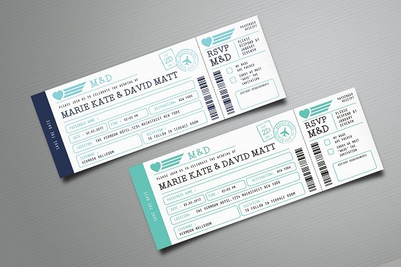 boarding pass wedding invitation invitation templates creative market