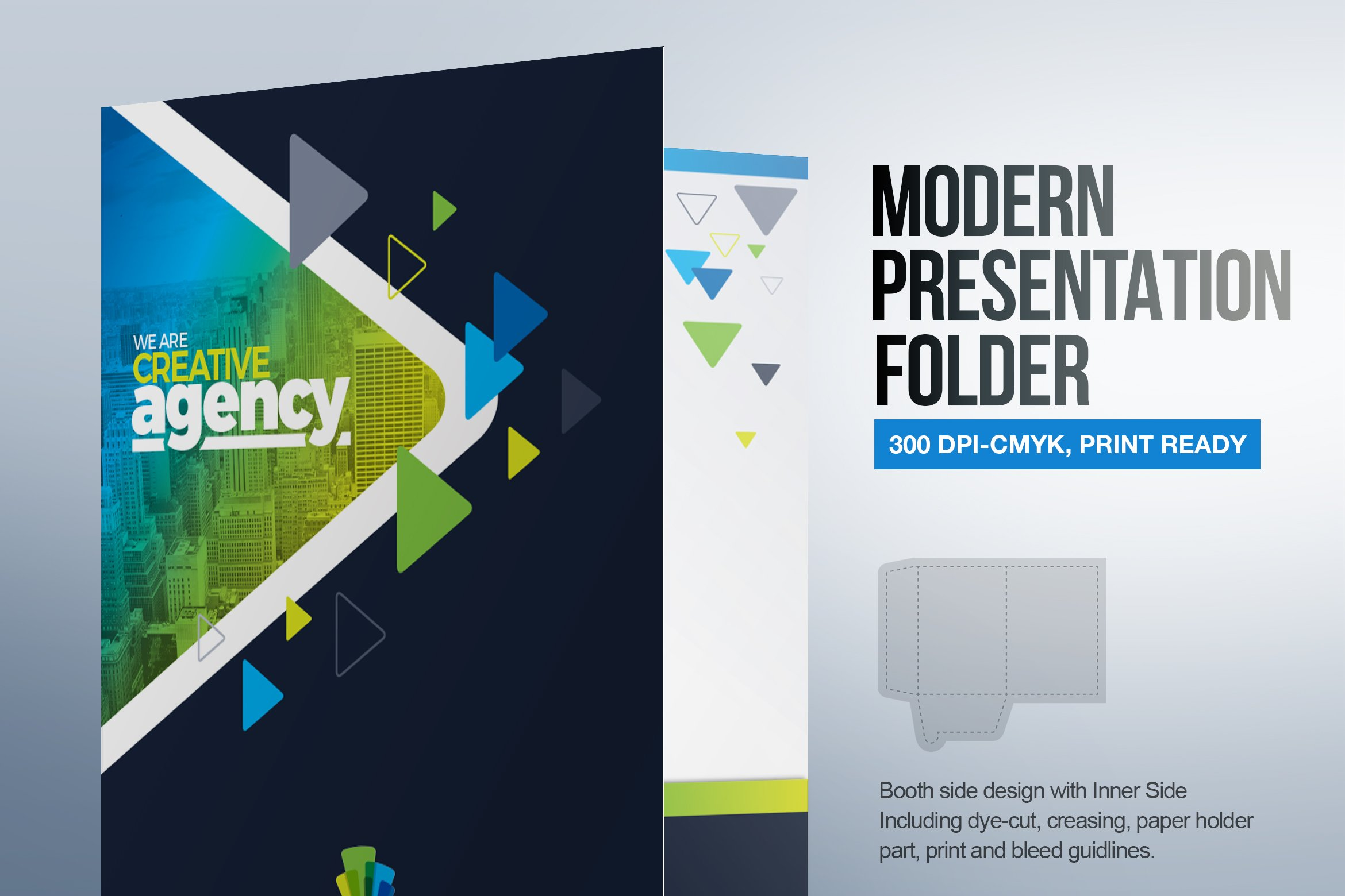 Modern Presentation Folder Template Stationery Templates