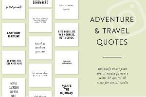 Adventure & Travel Instagram Quotes