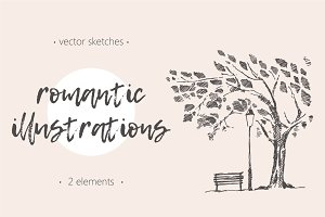 Two romantic illustrations