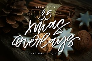 35 Christmas Overlays