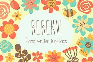 Bebekvi TTF hand written typeface