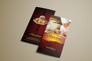 Tri-Fold Food Menu Template