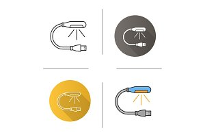 USB lamp icon