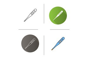 Electronic thermometer icon