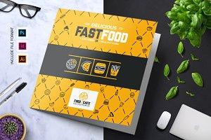 Fast Food Tri-Fold Brochure Template