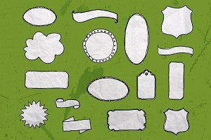 75 Vector Sketch Shapes