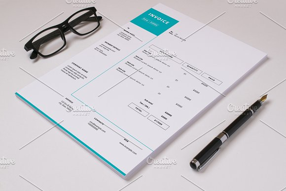 Business Invoice Template V-Graphicriver中文最全的素材分享平台