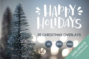Christmas lettering overlays