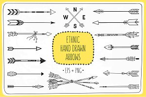 Ethnic Hand Drawn Arrows