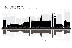 Hamburg Germany City skyline