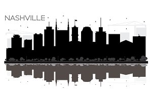 Nashville Tennessee USA City skyline