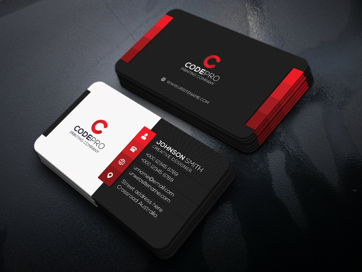 Modern business card business card templates creative market magicingreecefo Image collections