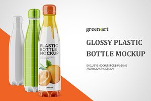 500ml Bottle with Glossy Label Mocku