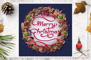 ❄ vector Merry Christmas card