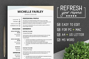 Professional RESUME Template #MF