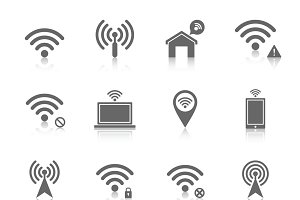 Wifi icons set